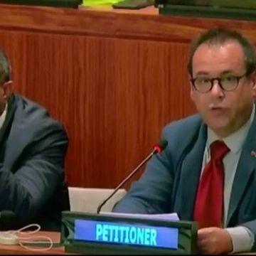 Crespo exige una solución a la cuestión del pueblo saharaui en las Naciones Unidas (con vídeo) – 14/10/2019 Región | Diario La Comarca de Puertollano
