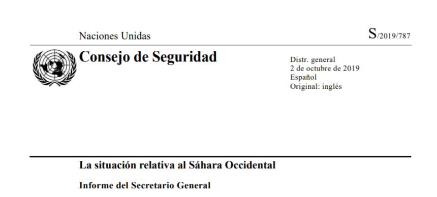 La situación relativa al Sáhara Occidental – Observaciones y recomendaciones del Informe del Secretario General de la ONU