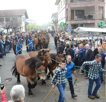 Una multitud en una feria de otoño muy primaveral. Noticias de Navarra