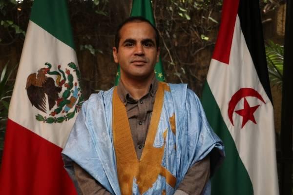 Hawuari Ahmed, primer secretario de laEmbajada de la República Árabe Saharaui Democrática, Saharauis
