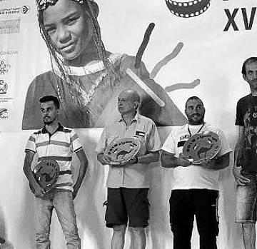 Rozalén y dos actores de 'Campeones', en el FiSahara 2019 . Noticias de Navarra