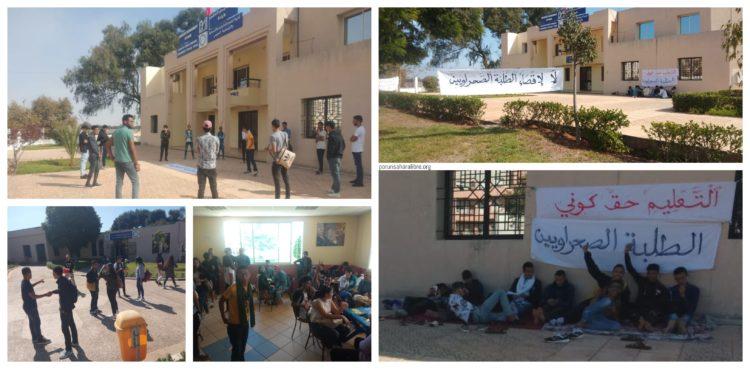 Estudiantes saharauis «sin derecho» a estudiar, en protesta desde hace más de dos semanas   PUSL