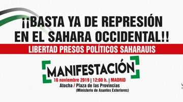 Manifestación Estatal 2019 – 16 de noviembre Madrid – CEAS-Sahara