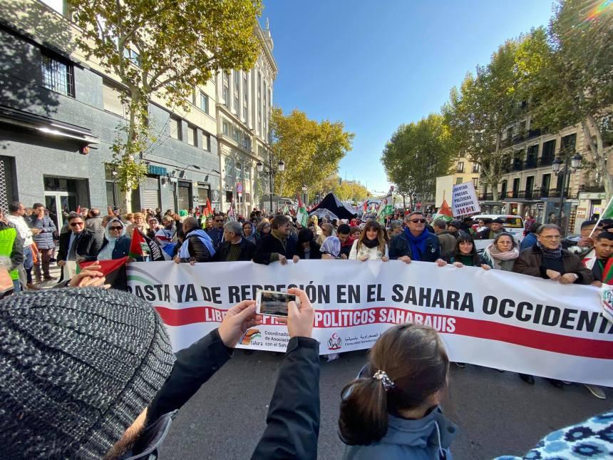 Manifestación saharaui en Madrid 16N-2019… ¡aquí puedes ver las pancartas!