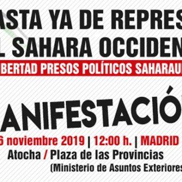 """16N Manifestación """"Contra la represión en el Sáhara Occidental; por la libertad de los presos políticos saharauis"""" – CEAS-Sahara"""