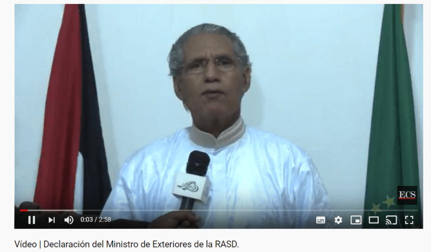Ministro de Exteriores saharaui: «La amenaza terrorista es igual tanto en Madrid que en los campamentos saharauis»