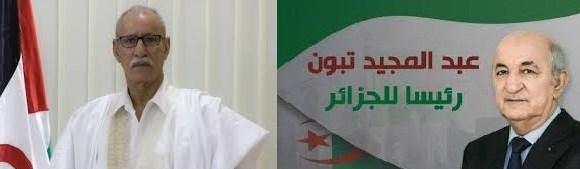 Presidente de la RASD felicita a Abdelmadjid Tebboune por su elección como presidente de Argelia   Sahara Press Service