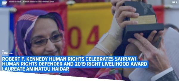 R.F. Kennedy Foundation congratulates Aminatou Haidar for Alternative Nobel Award and calls for respect of human rights in Western Sahara | Sahara Press Service