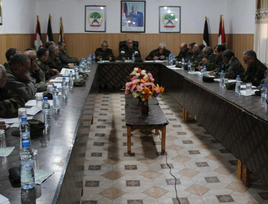 El Presidente de la República y Jefe de las Fuerzas Armadas preside una reunión del Estado Mayor del Ejército de Liberación Popular Saharaui | Sahara Press Service