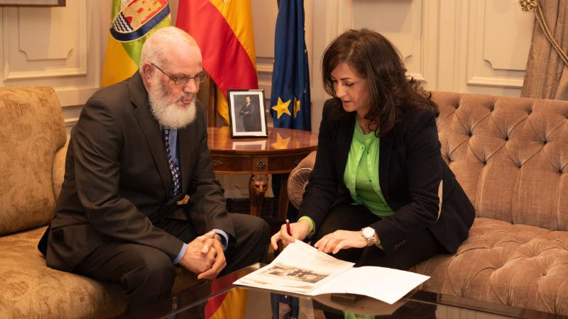 Representante saharaui en La Rioja y la presidenta de la Comunidad autónoma apuestan por fortalecer relaciones y proyectos de cooperación | Sahara Press Service