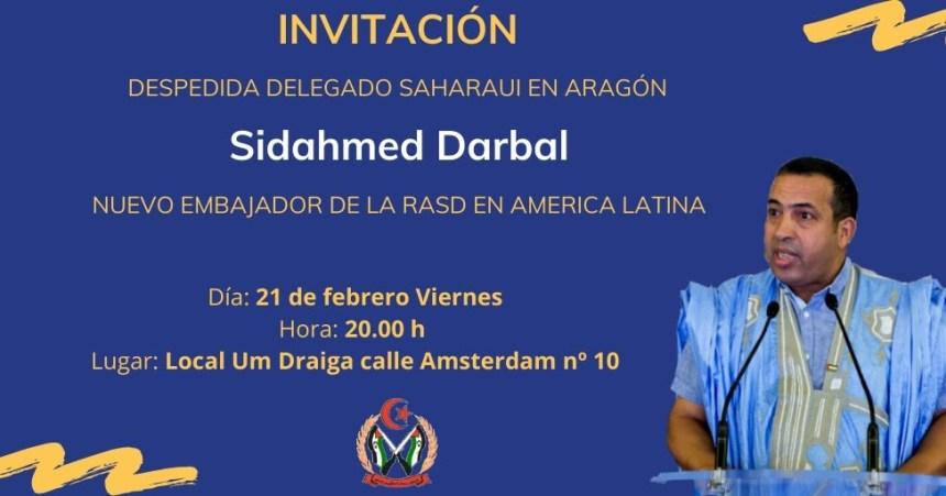COMUNIDAD SAHARAUI EN ARAGON: DESPEDIDA DELEGADO SAHARAUI EN ARAGON , SIDAHMED DARBAL