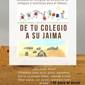 «De tu colegio a su jaima»: campaña de recogida de alimentos para el Pueblo Saharaui – El Periódico de Villena