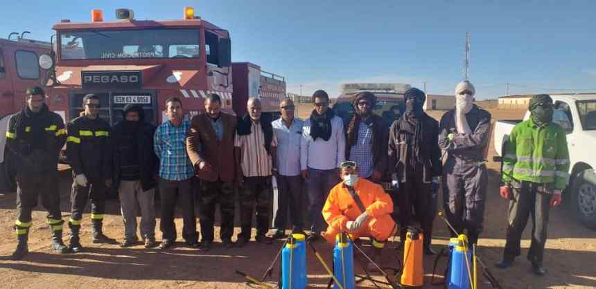 Continúa campaña de fumigación y saneamiento en las wilayas e instituciones de la República Saharaui | Sahara Press Service