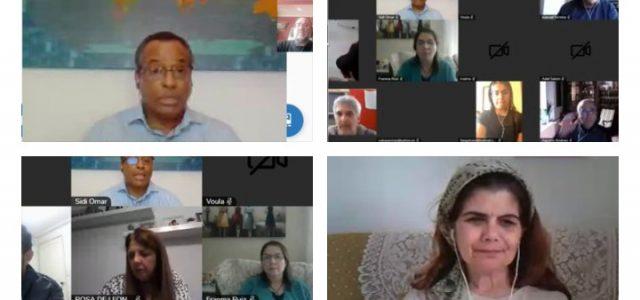 Teleconferencia Internacional por la descolonización e independencia del Sáhara Occidental   werken rojo