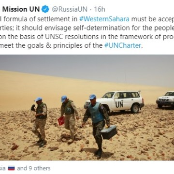 Russia affirms that any solution to Western Sahara conflict must respect Saharawi people's self-determination and UN Charter | Sahara Press Service
