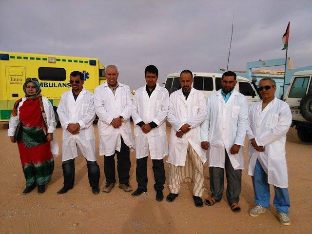 El presidente Brahim Gali saluda los trabajadores del sector de salud y subraya la necesidad de cumplir con las medidas adoptadas | Sahara Press Service