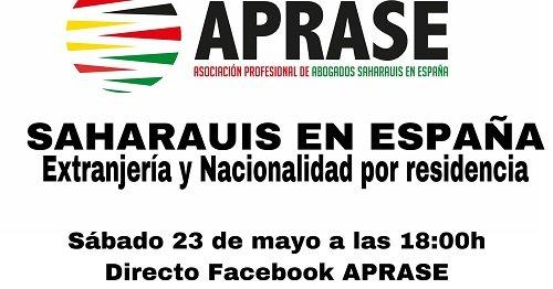 HOY A LAS 18:00h | Abogados saharauis aclaran dudas sobre la tramitación y renovación de documentos en España