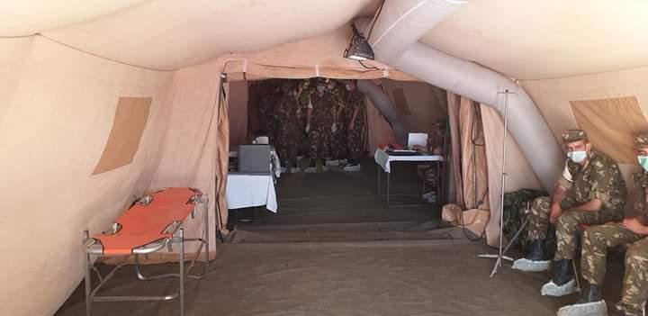COVID-19: FOTOS de la inauguración del hospital de campaña construido por Argelia en los campamentos de refugiados saharauis