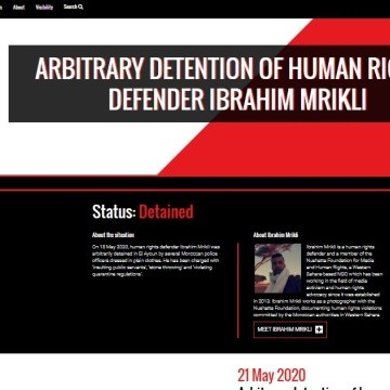 Frontline Defenders concerned about arbitrary detention of Saharawi Medias and human rights activist, Ibrahim Mrikli | Sahara Press Service