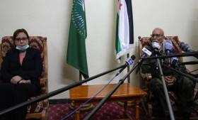 El Presidente de la República recibe a la Ministra de Solidaridad Nacional, Familia y Asuntos de la Mujer de Argelia   Sahara Press Service