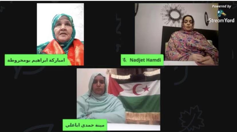 «La mujer saharaui, 47 años de lucha», título de una conferencia virtual con motivo de la liberación de la presa saharaui Mahfouda Bmba Lefkir