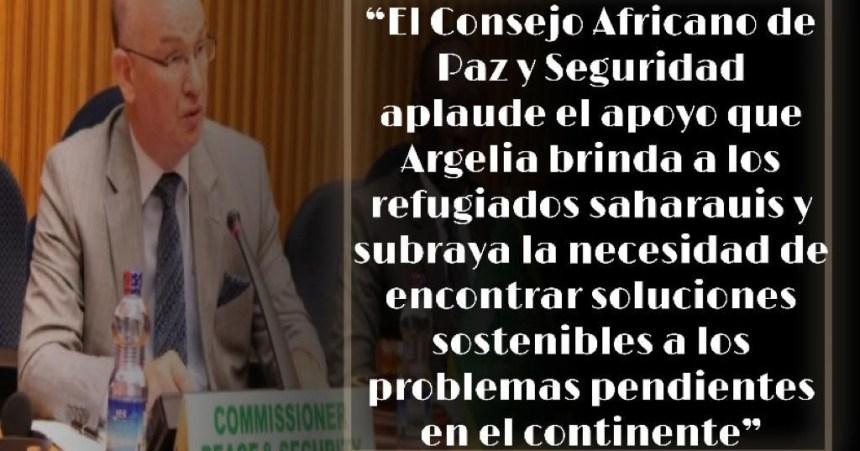 El Consejo de Paz y Seguridad de la Unión Africana aplaude a Argelia su decisión de brindar apoyo a los refugiados saharauis en plena crisis de la Covid-19