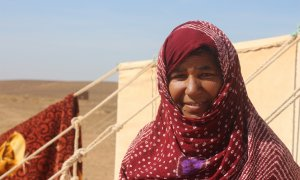 Nómada en el desierto del Sáhara Occidental. JOSE CARMONA