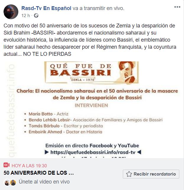 CAMPAÑA 50 ANIVERSARIO SUCESOS DE ZEMLA #DondeEstaBassiri | miércoles,17 de junio