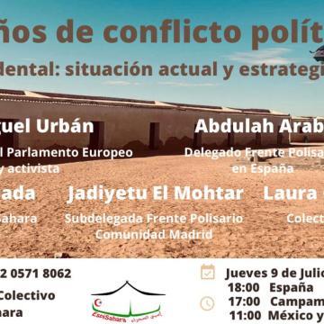Conferencia Online: Sáhara Occidental, 45 años de conflicto político sin solucionar – Delegación del Frente Polisario para España