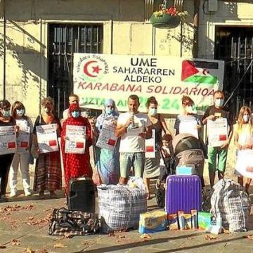 Una caravana solidaria recoge material para el pueblo saharaui – Noticias de Gipuzkoa