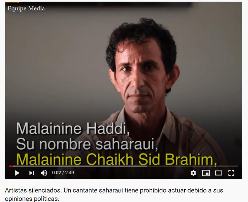 Artistas silenciados. Un cantante saharaui tiene prohibido actuar debido a sus opiniones políticas. – Equipe Media