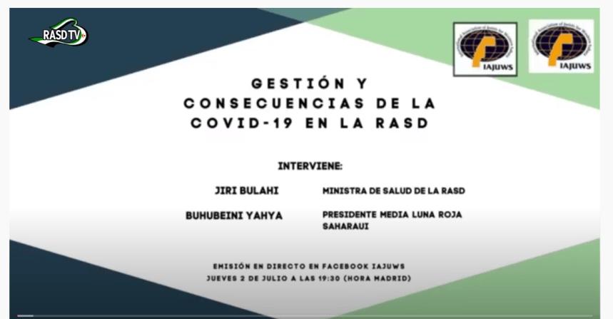 Conferencia sobre impacto de la COVID-19 sobre la población saharaui – Rasd-tv En Español – Tv saharaui-