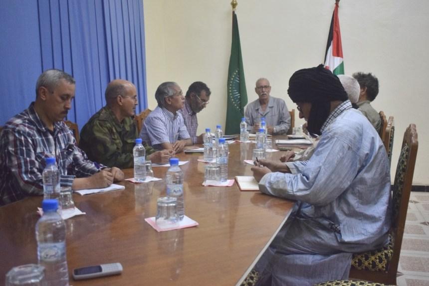 Brahim Gali preside una reunión ordinaria del Buró permanente del Frente Polisario