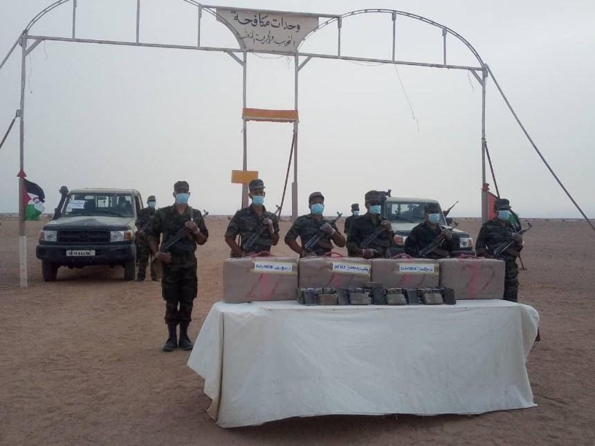 Una unidad especial del ejército saharaui intercepta un cargamento de droga procedente del muro marroquí
