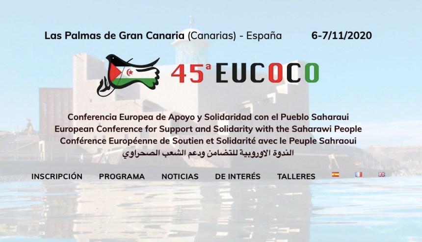 Suspendida la 45ª EUCOCO, Conferencia europea de apoyo al pueblo saharaui