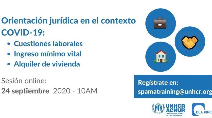 ACNUR– Sesión informativa para refugiados, apátridas y solicitantes de asilo en España en el contexto COVID-19