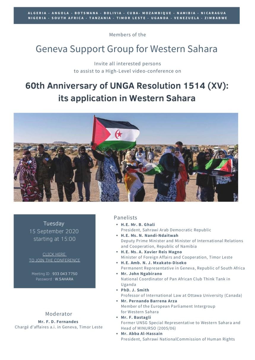 «El Grupo de Ginebra» de apoyo al pueblo saharaui pide intervención de la ONU ante el aumento de violaciones de DD.HH en el Sáhara ocupado