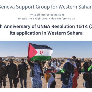 Videoconferencia de la reunión del Grupo de de Ginebra de Apoyo al Sáhara Occidental por 60° aniversario de la Resolución 1514 (XV) de la Asamblea General DE LAS NACIONES UNIDAS (vídeo)