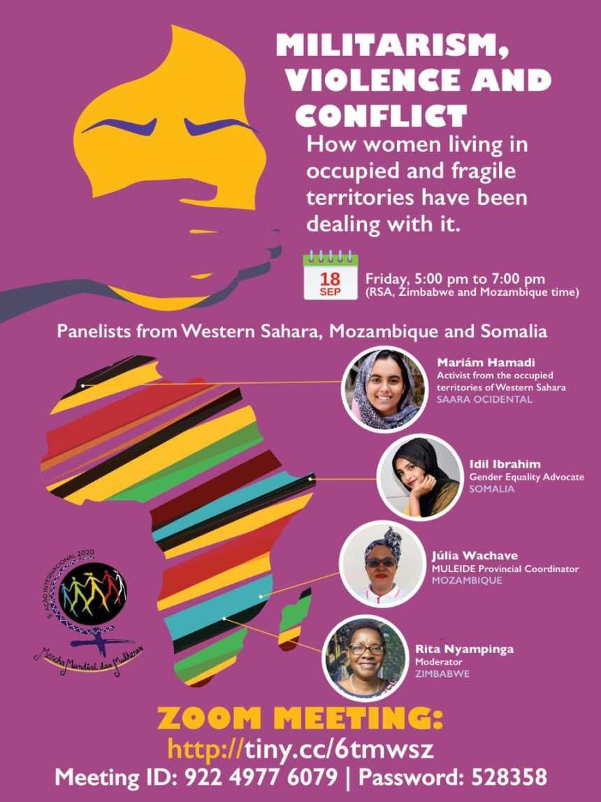 Una conferencia virtual de laMarcha Mundial de las Mujeres aborda violaciones de los DDHH de mujeres africanas: el caso de las mujeres saharauis   Sahara Press Service