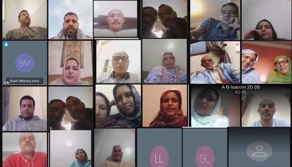 La asamblea general de la Instancia Saharaui contra la Ocupación marroquí celebra su primera sesión a pesar del bloqueo y el acoso policial marroquí | Sahara Press Service