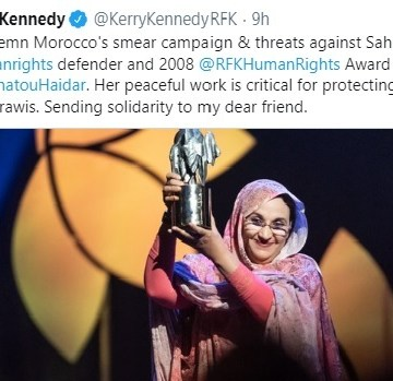 Kerry Kennedy condemns Moroccan smear campaign against Aminatou Haidar | Sahara Press Service