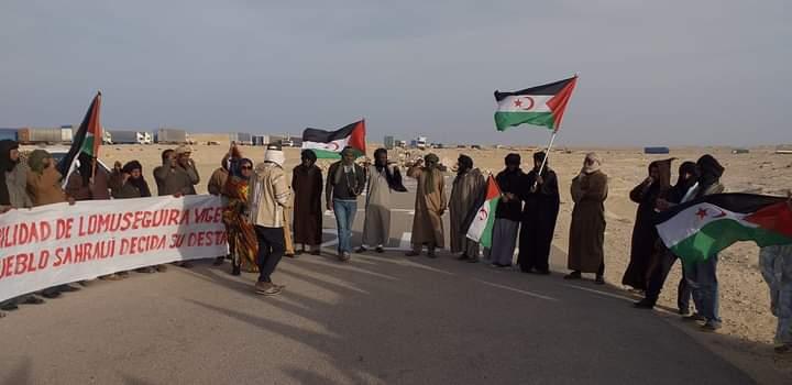 El Sáhara Occidental vive doce días de protestas y cierre de El Guerguerat – Los manifestantes no piensa retirarse