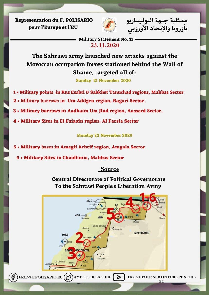 ¡ÚLTIMAS noticias – Sahara Occidental! | 23 de noviembre de 2020