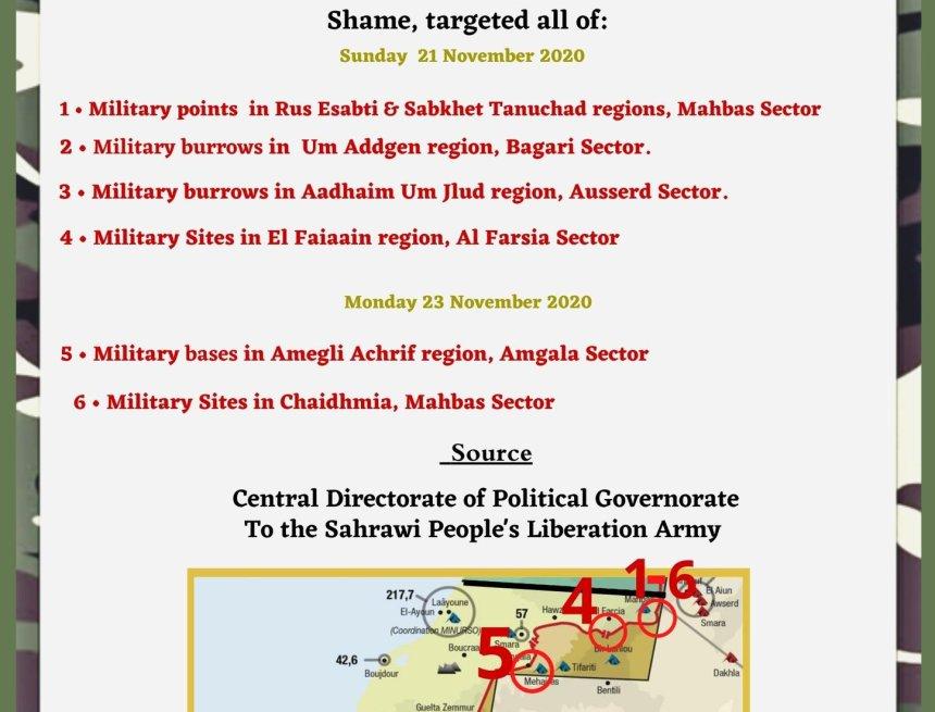 ¡ÚLTIMAS noticias – Sahara Occidental!   23 de noviembre de 2020