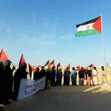 Las protestas continúan en El Garguerat hasta el cierre de la brecha ilegal marroquí | Sahara Press Service