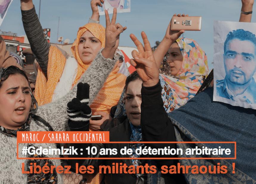 Prisonniers de Gdeim Izik: Déjà 10 ans de détention arbitraire | ACAT France