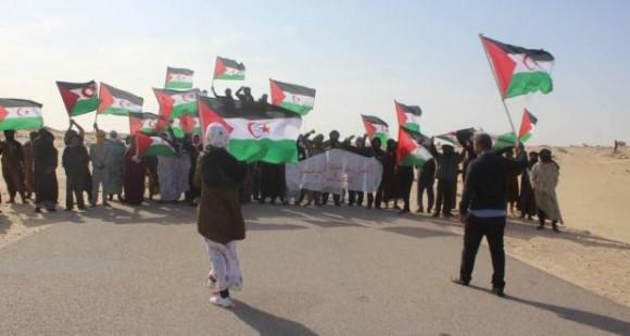 La manifestation pacifique à El-Guerguerat contrecarre les plans du Maroc   Sahara Press Service