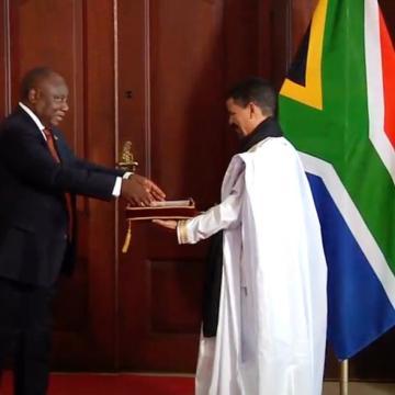 El nuevo embajador de la RASD, Mohamed Yeslem Beissat presenta sus cartas credenciales al presidente de Sudáfrica | Sahara Press Service