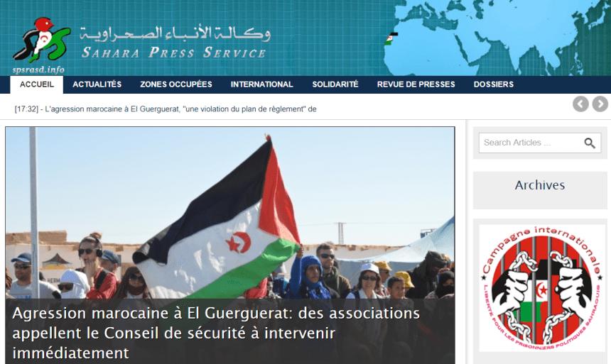 Sahara Press Service – Dernières informations   Agression marocaine à El Guerguerat