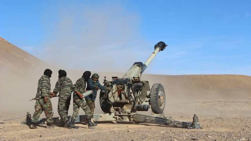 El ELPS continúa con sus bombardeos a guarniciones y posiciones enemigas a lo largo del muro militar marroquí | Sahara Press Service